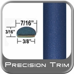 """7/16"""" Wide Blue Wheel Molding Trim ( PT52 ), Sold by the Foot, Precision Trim® # 2150-52-01"""