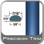 """7/16"""" Wide Blue Wheel Molding Trim ( PT81 ), Sold by the Foot, Precision Trim® # 2150-81-01"""