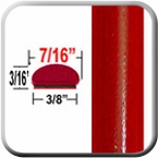 """7/16"""" Wide Absolute Red Wheel Molding Trim 3P0 ( CP16 ), Sold by the Foot, ColorTrim Plastics® # 20-16"""
