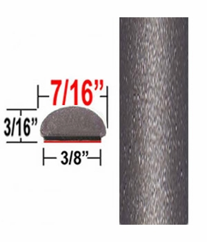 "7/16"" Wide Dark Slate Wheel Molding Trim (CP34) Sold by the Foot ColorTrim Plastics® #20-34"