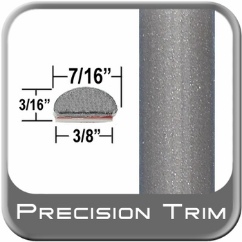 "7/16"" Wide Gray (Light) Wheel Molding Trim (PT91) Sold by the Foot Precision Trim® #2150-91-01"