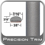 """7/16"""" Wide Gray (Light) Wheel Molding Trim ( PT91 ), Sold by the Foot, Precision Trim® # 2150-91-01"""