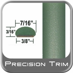 """7/16"""" Wide Green Wheel Molding Trim ( PT15 ), Sold by the Foot, Precision Trim® # 2150-15-01"""