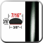 """7/16"""" Wide Matte Black Wheel Molding Trim ( CP48 ), Sold by the Foot, ColorTrim Plastics® # 20-48"""