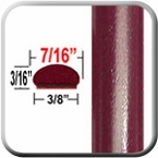 "7/16"" Wide Medium Red Metallic Wheel Molding Trim ( CP41 ), Sold by the Foot, ColorTrim Plastics® # 20-41"