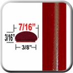 """7/16"""" Wide Deep Bright Red Metallic Wheel Molding Trim ( CP85 ), Sold by the Foot, ColorTrim Plastics® # 20-85"""