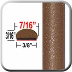 """7/16"""" Wide Sunset Bronze Wheel Molding Trim 4U3 ( CP71 ), Sold by the Foot, ColorTrim Plastics® # 20-71"""