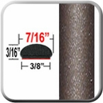"""7/16"""" Wide Pyrite Mica Wheel Molding Trim 4T3 ( CP33 ), Sold by the Foot, ColorTrim Plastics® # 20-33"""