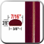 """7/16"""" Wide Salsa Red Wheel Molding Trim 3Q3 ( CP39 ), Sold by the Foot, ColorTrim Plastics® # 20-39"""