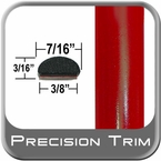 "7/16"" Wide Red Wheel Molding Trim ( PT61 ), Sold by the Foot, Precision Trim® # 2150-61-01"