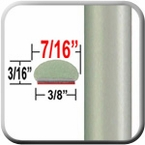 """7/16"""" Wide Silver Pine Wheel Molding Trim 6U0 ( CP36 ), Sold by the Foot, ColorTrim Plastics® # 20-36"""