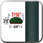 """7/16"""" Wide Evergreen Mica, Timberland Mica Wheel Molding Trim 6T8 ( CP54 ), Sold by the Foot, ColorTrim Plastics® # 20-54"""