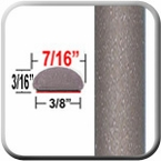 """7/16"""" Wide Champagne Mica Wheel Molding Trim 5B2 ( CP29 ), Sold by the Foot, ColorTrim Plastics® # 20-29"""