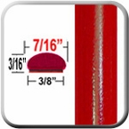 """7/16"""" Wide Radiant Red Wheel Molding Trim 3L5 ( CP42 ), Sold by the Foot, ColorTrim Plastics® # 20-42"""