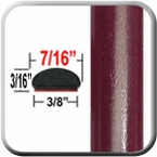 "7/16"" Wide Medium Red Metallic Wheel Molding Trim ( CP23 ), Sold by the Foot, ColorTrim Plastics® # 20-23"