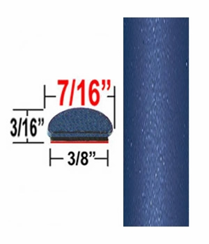 """7/16"""" Wide Twilight Blue Wheel Molding Trim (CP73) Sold by the Foot ColorTrim Plastics® #20-73"""