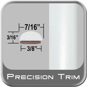 """7/16"""" Wide White Wheel Molding Trim (PT73) Sold by the Foot Precision Trim® #2150-73-01"""