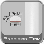 "7/16"" Wide White Wheel Molding Trim ( PT10 ), Sold by the Foot, Precision Trim® # 2150-10-01"