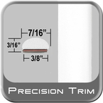 """7/16"""" Wide White Wheel Molding Trim ( PT12 ), Sold by the Foot, Precision Trim® # 2150-12-01"""