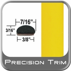 """7/16"""" Wide Yellow Wheel Molding Trim (PT46) Sold by the Foot Precision Trim® #2150-46-01"""