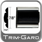 "7/8"" Wide Black-Chrome Body Side Molding Two 13' Strips, Trim Gard® # 802"