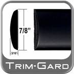 "7/8"" Wide Black (Gloss) Body Side Molding Sold by the Foot, Trim Gard® # CM44-02-01"