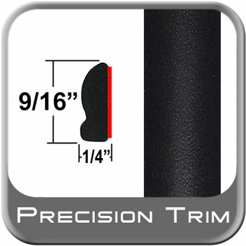 "9/16"" Wide Wheel Molding Trim Black (Flat) (PT11) Sold by the Foot Precision Trim® #9150-11-01"