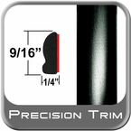 "9/16"" Wide Black Wheel Molding Trim Sold by the Foot Precision Trim® #9150-60-01"