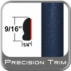 """9/16"""" Wide Deep Blue Metallic Wheel Molding Trim ( CP58 ), Sold by the Foot, ColorTrim Plastics® # 30-58"""