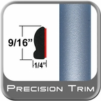 """9/16"""" Wide Sky Blue, Blue Whisper Wheel Molding Trim 8S4 ( CP24 ), Sold by the Foot, ColorTrim Plastics® # 30-24"""