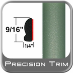 """9/16"""" Wide Green Wheel Molding Trim ( PT15 ), Sold by the Foot, Precision Trim® # 9150-15-01"""