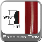 """9/16"""" Wide Barcelona Red Wheel Molding Trim 3R3 ( CP19 ), Sold by the Foot, ColorTrim Plastics® # 30-19"""