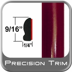 "9/16"" Wide Medium Red Metallic Wheel Molding Trim ( CP41 ), Sold by the Foot, ColorTrim Plastics® # 30-41"
