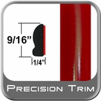 """9/16"""" Wide Absolute Red Wheel Molding Trim 3P0 ( CP16 ), Sold by the Foot, ColorTrim Plastics® # 30-16"""