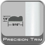 """9/16"""" Wide Arctic Frost Wheel Molding Trim ( PT73 ), Sold by the Foot, Precision Trim® # 9150-73"""