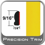"""9/16"""" Wide Yellow Wheel Molding Trim ( PT46 ), Sold by the Foot, Precision Trim® # 9150-46-01"""