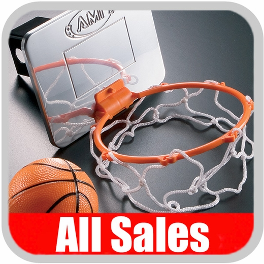 All Sales Trailer Hitch Cover Basketball HOOP Hitch Cover w/Billet Backboard, Net & Ball Polished Aluminum Finish #1033