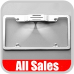 All Sales License Plate Frame Flat, Smooth Style Frame w/Ball Milled Style Tag Light Cover, w/Tag Lights Polished Aluminum Sold Individually #84000TLP