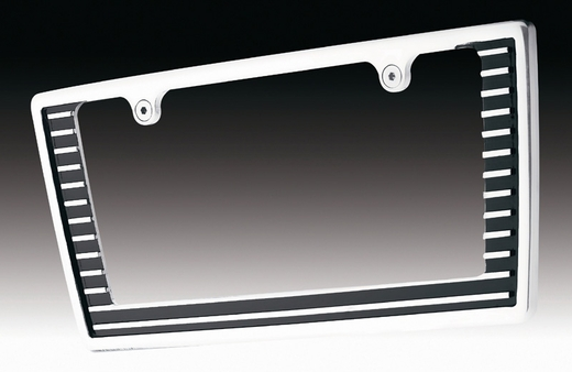 All Sales License Plate Frame Grille Style Frame Polished Aluminum Sold Individually #84004P