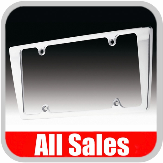 All Sales License Plate Frame Smooth Style Frame Polished Aluminum Sold Individually #84003P