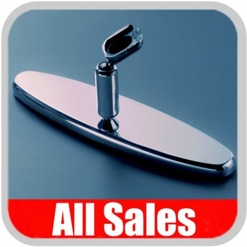 "All Sales Rear View Mirror 8"" Long Oval Design Smooth Finish Style Brushed Aluminum Sold Individually #97394"