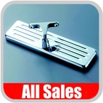 """All Sales Rear View Mirror 8"""" Long Rectangular Design Ball-Milled, Grooved Style Polished Aluminum Sold Individually #21038P"""