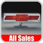 All Sales Third Brake Light Pedestal Style Brushed Aluminum Bow Tie Logo Design Sold Individually #94003