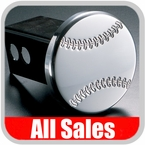 All Sales Trailer Hitch Cover Baseball Hitch Cover Baseball w/Seams Polished Aluminum Finish Sold Individually #1031