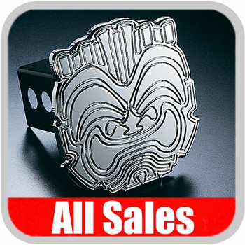 All Sales Trailer Hitch Cover Hula Hitch Cover Hula Theme w/Tiki Design Polished Aluminum Finish #1024