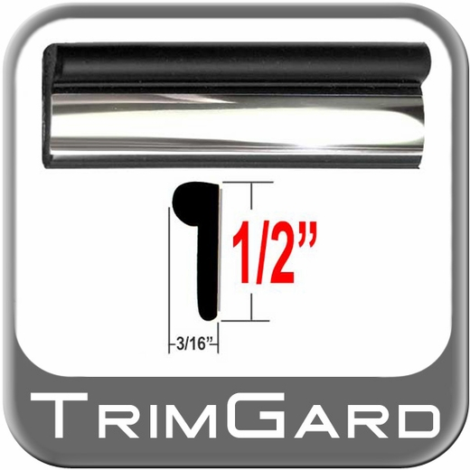 "1/2"" Wide Black-Chrome Wheel Molding Trim Sold by the Foot Trim Gard® #BV01-01"