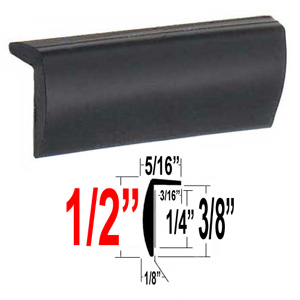 """L"" Style Black Door Edge Guard Sold by the Foot, Trim Gard® # RRT32-02"