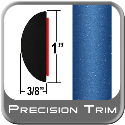 """1"""" Wide Blue Camaro Molding Trim (PT41) Sold by the Foot Precision Trim® #3372-41-01"""