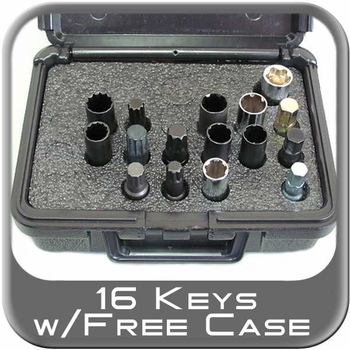 Brandsport® Master Wheel Lock / Lug Nut Keys 16 or 18 Piece Kit #Keys