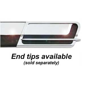 """1-1/8"""" Wide Black-Chrome Body Side Molding Two 17' strips, Cowles® # 33-764"""